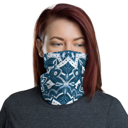 Cyan Patterns Neck Gaiter