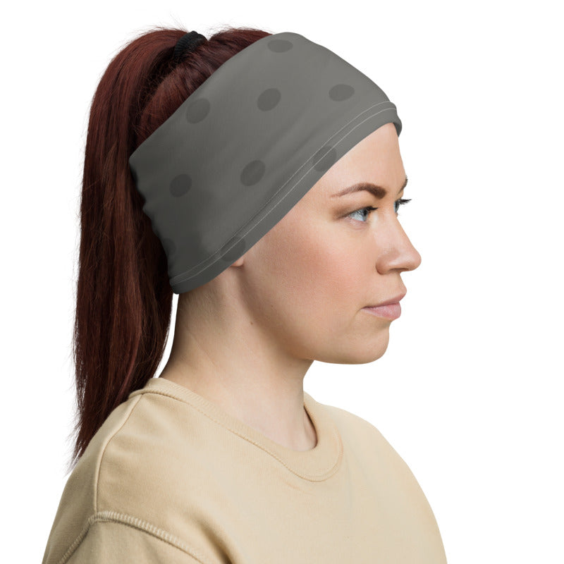 Gray Polka Dots Neck Gaiter