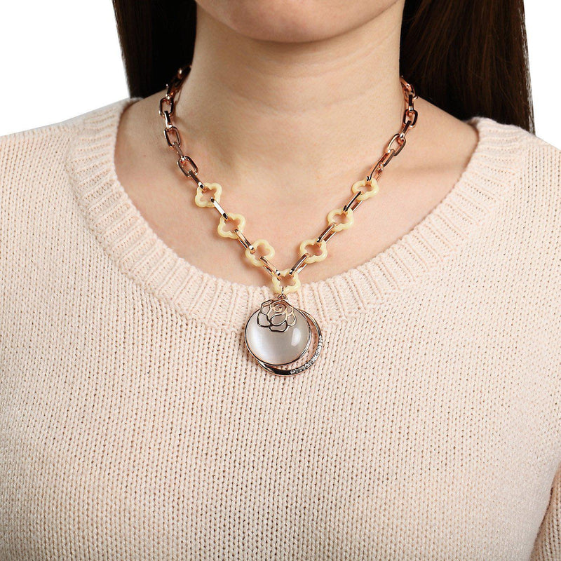 Moonstone Pendant Fashion Necklace-Blinglane