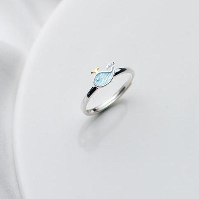 My Little Dolphin Sterling Silver Ring-Silver Ring-Blinglane