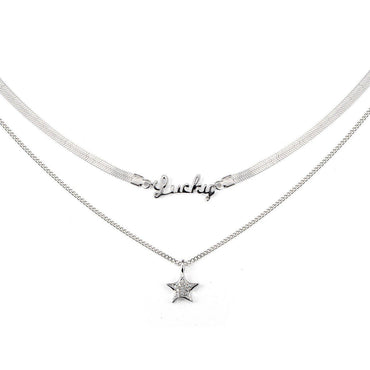 My Lucky Star Layered Choker-Blinglane