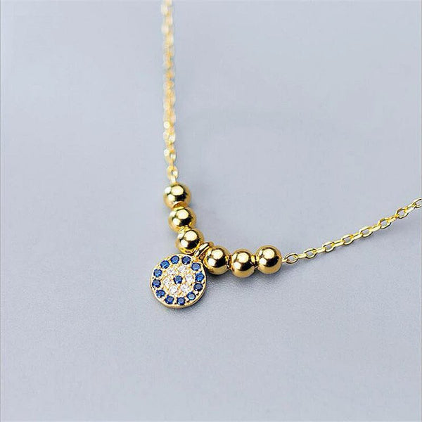 Exclusive Evil Eye Sterling Silver Minimal Necklace