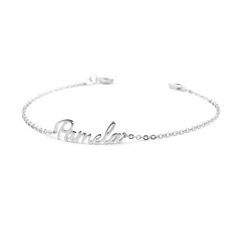 Personalize Your Name Sterling Silver Anklet