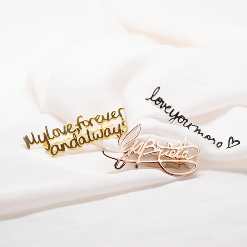 Personalize Your Name Fashion Brooch