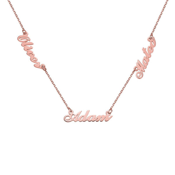 Personalize Three Names Fashion Necklace-Necklaces-Blinglane