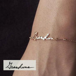 Personalize Your Handwritten Signature Fashion Bracelet