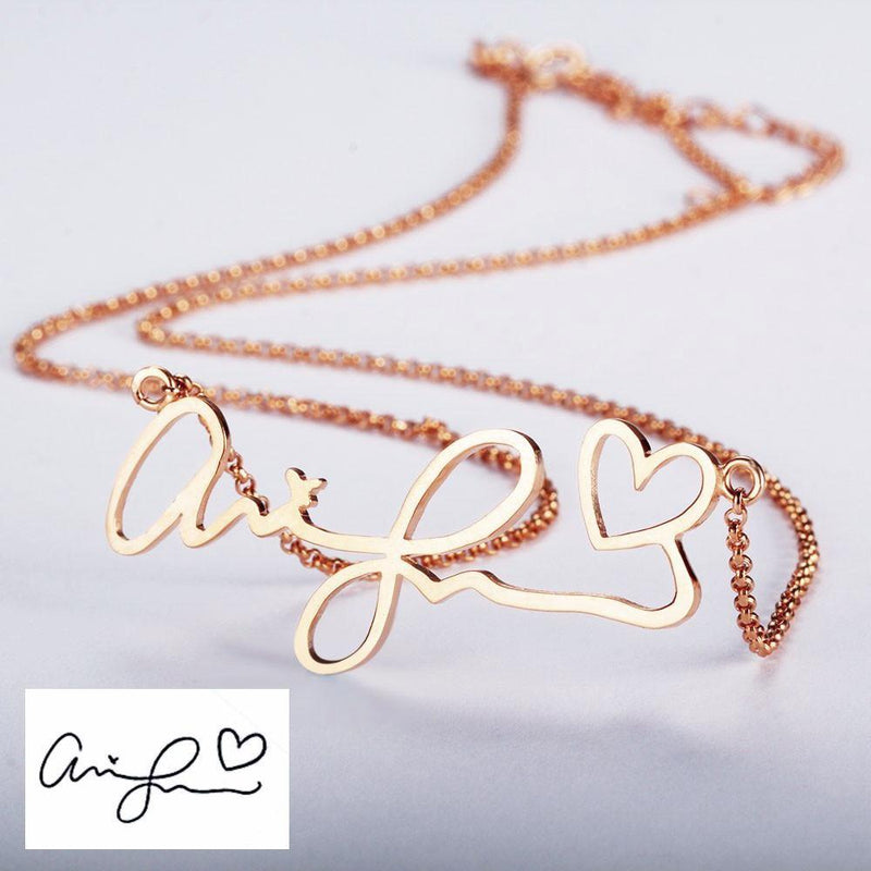 Personalize Your Handwritten Signature  Necklace