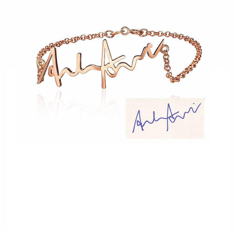 Personalize Your Handwritten Signature Sterling Silver Bracelet
