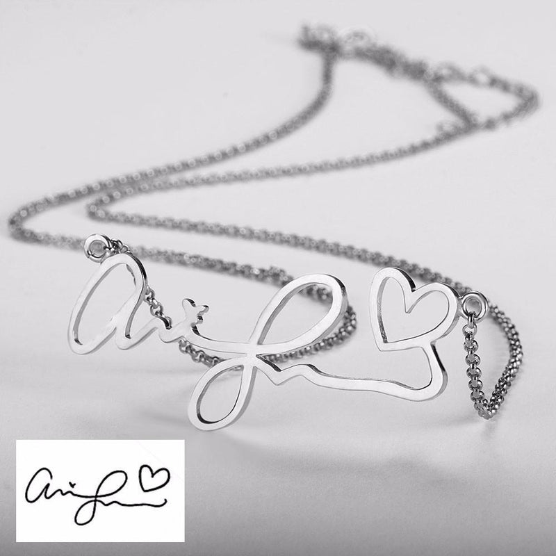 Personalize Your Handwritten Signature Sterling Silver Necklace