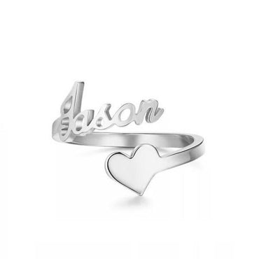 Personalize Your LGBTQ Pride Name & Icon Sterling Silver Ring-Blinglane