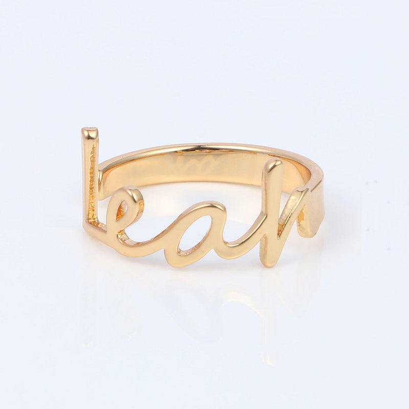 Personalize Your Name Bold Fashion Ring