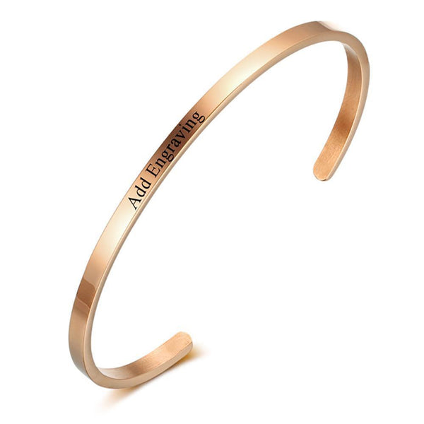 Personalize Your Name Elegant 3.5mm Cuff Bangle-Blinglane