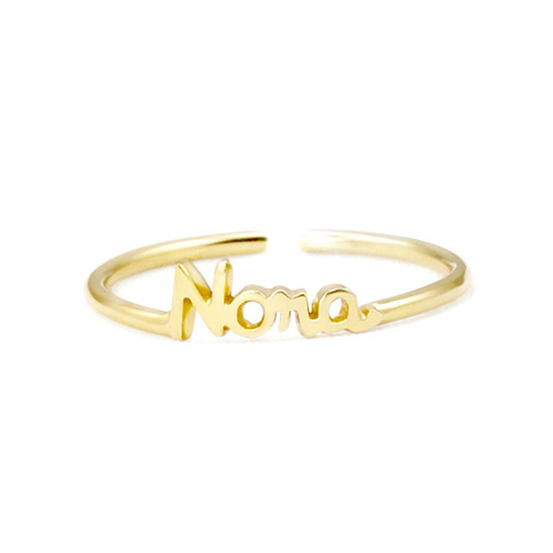 Personalize Your Name Elegant Sterling Silver Ring