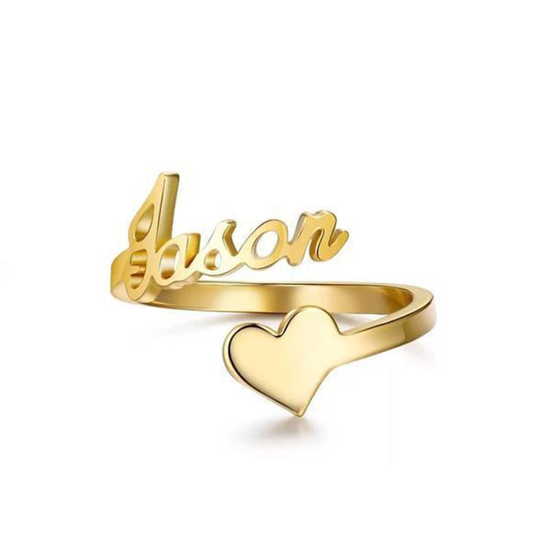 Personalize Your Name & Icon Fashion Ring