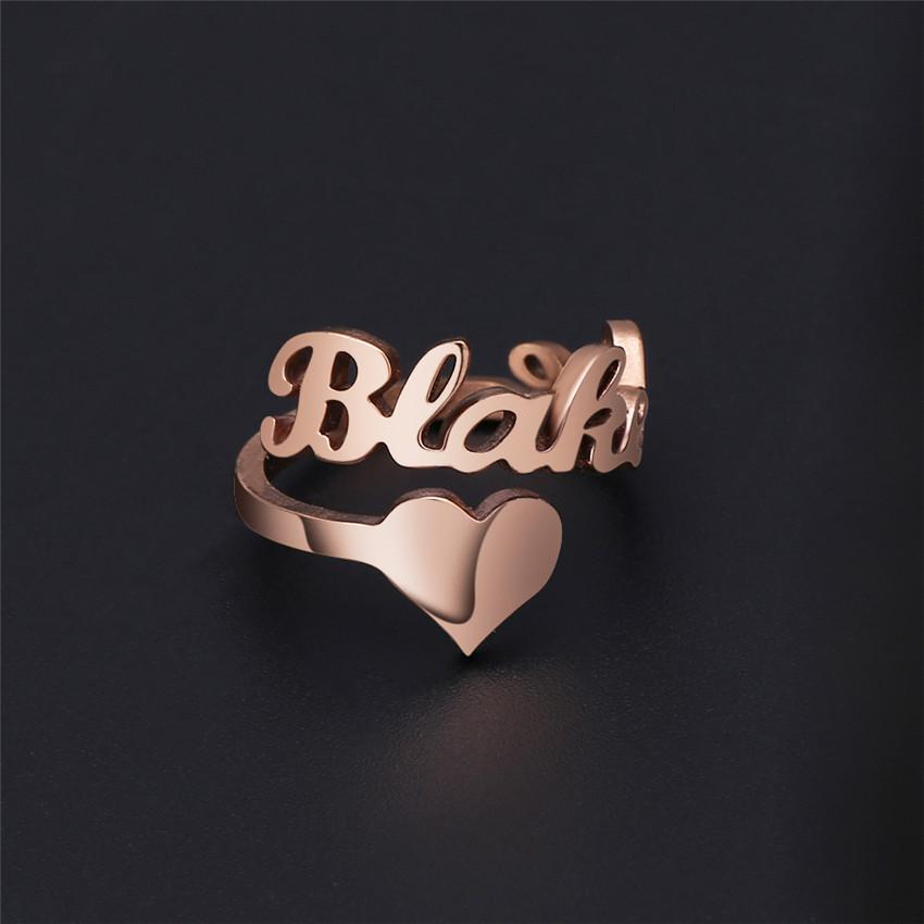 Personalize Your Name & Icon Sterling Silver Ring