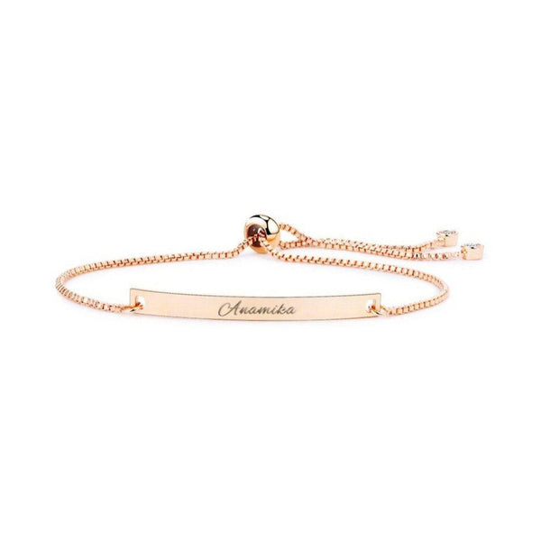 Personalize Your Name Slider Clasp Fashion Bracelet