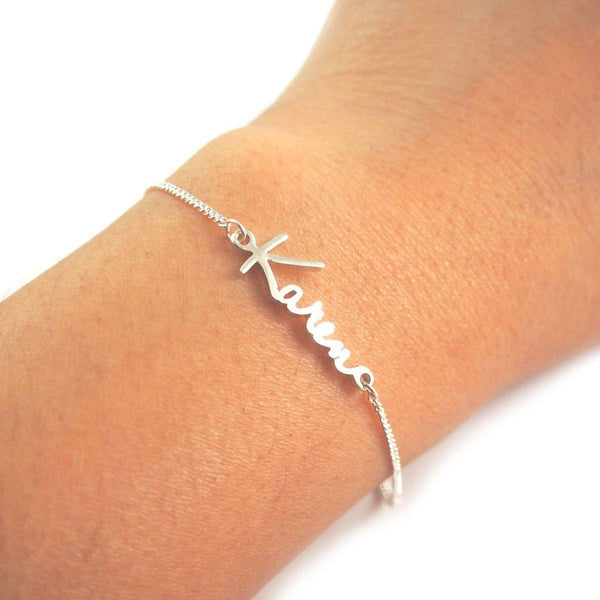 Personalize Your Name Sterling Silver Bracelet