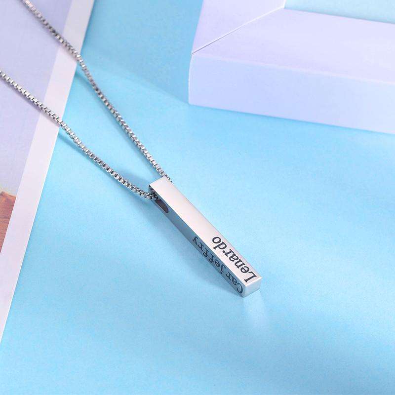 Personalize Your Name Vertical Bar Fashion Necklace-Necklace-Blinglane