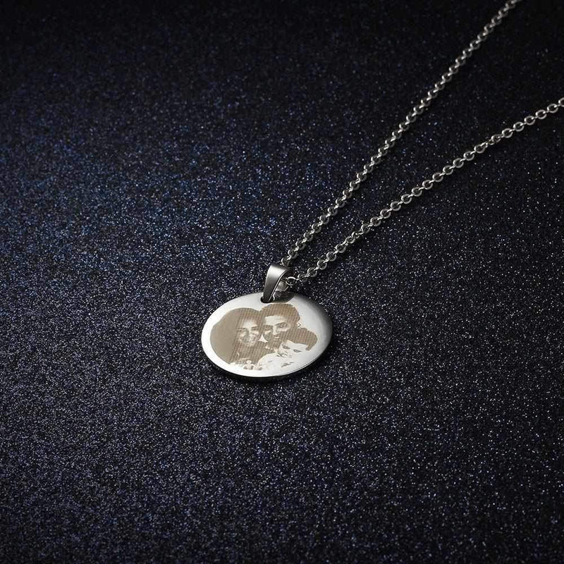 Personalize Your Photo & Message Engraved  Necklace
