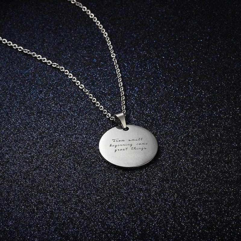Personalize Your Photo & Message Engraved Fashion Necklace