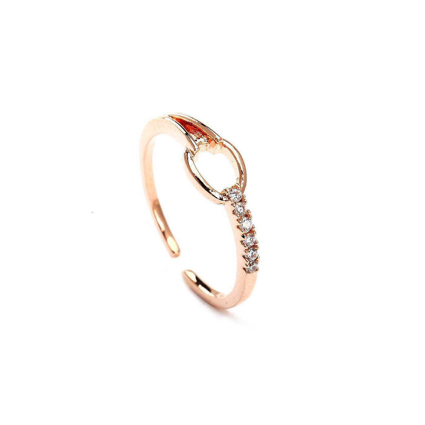 Pretty Forever Studded Rose Gold Plated Ring-Blinglane