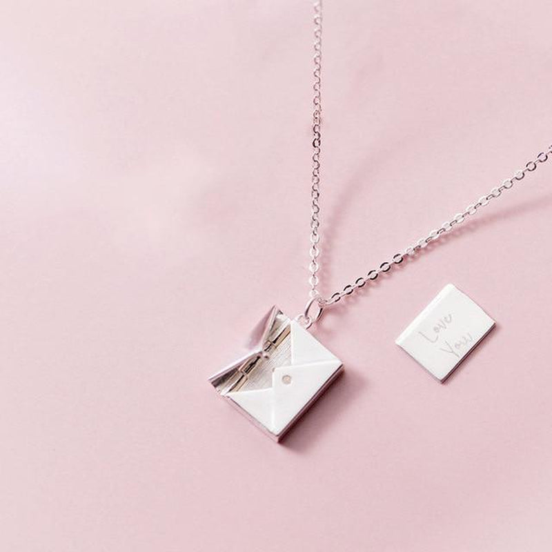 The Secret Love Letter Sterling Silver Neckpiece-Silver Necklace-Blinglane