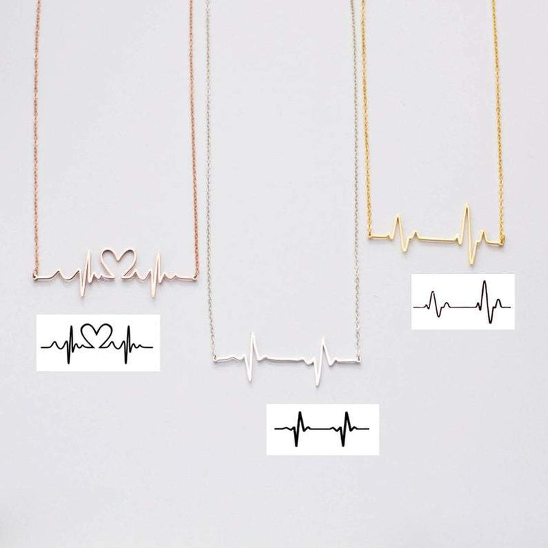 Personalize Your ECG Heart Lifeline Fashion Necklace-Necklace-Blinglane