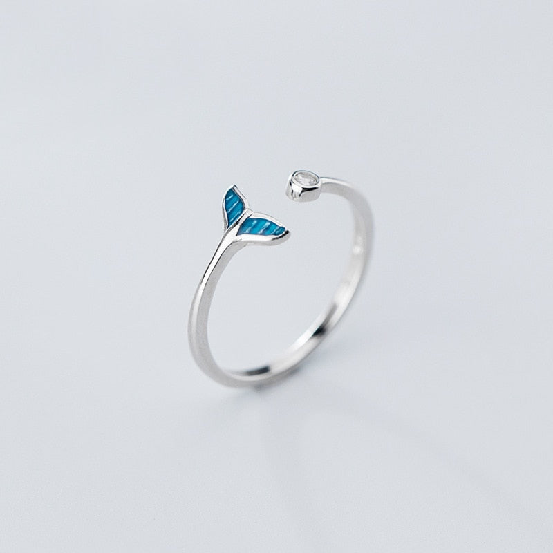 Charming Fish Tail Sterling Silver Ring