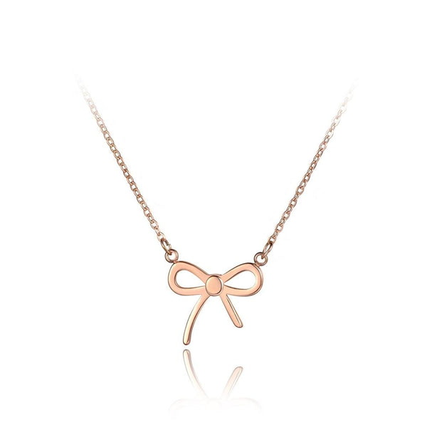 Simplified Bow Knot Minimal Fashion Necklace