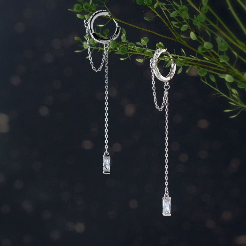 Sophisticated Drapes Sterling Silver Drop Earrings
