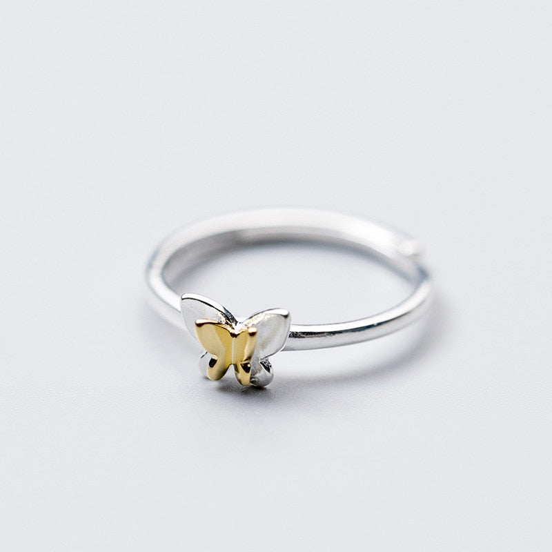 Minimal Butterfly Sterling Silver Ring