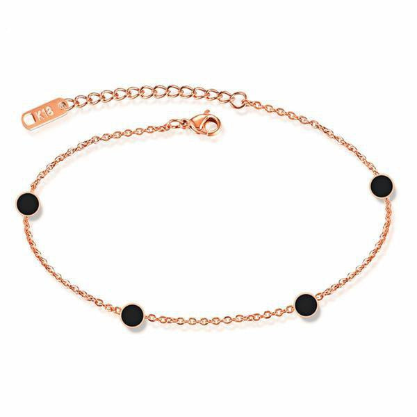 Appealing Black Disc Fashion Anklet-Blinglane