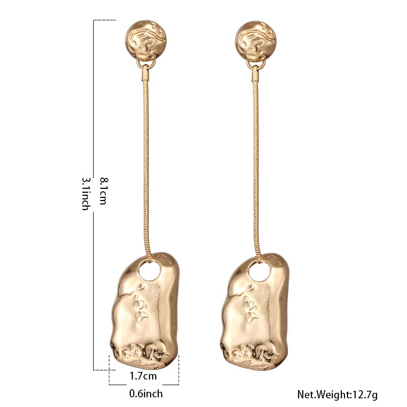 Erratic Drops Metallic Earrings