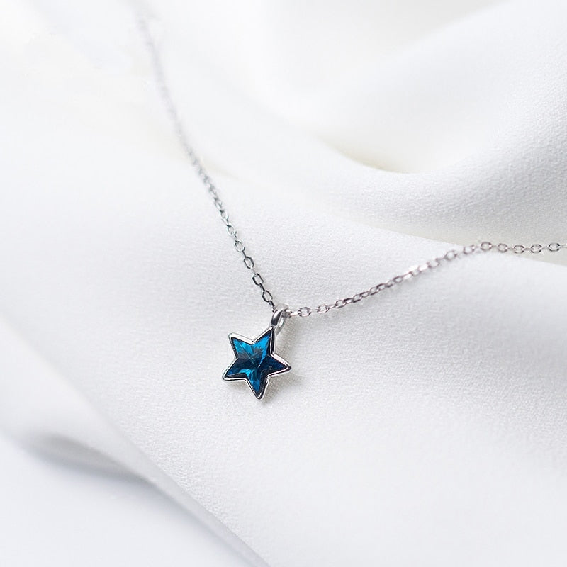 Luminous Star Sterling Silver Necklace