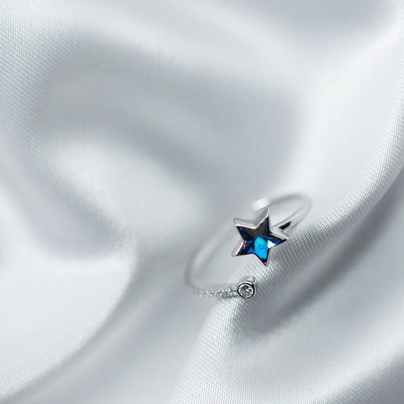Luminous Star Sterling Silver Ring