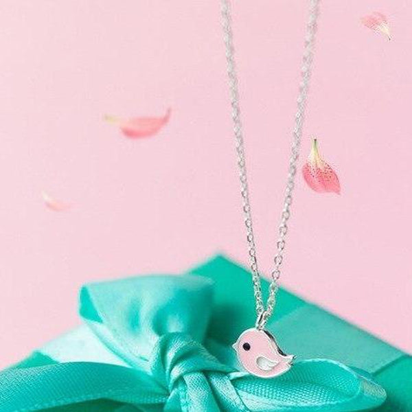 Cheerful Birdie Sterling Silver Necklace