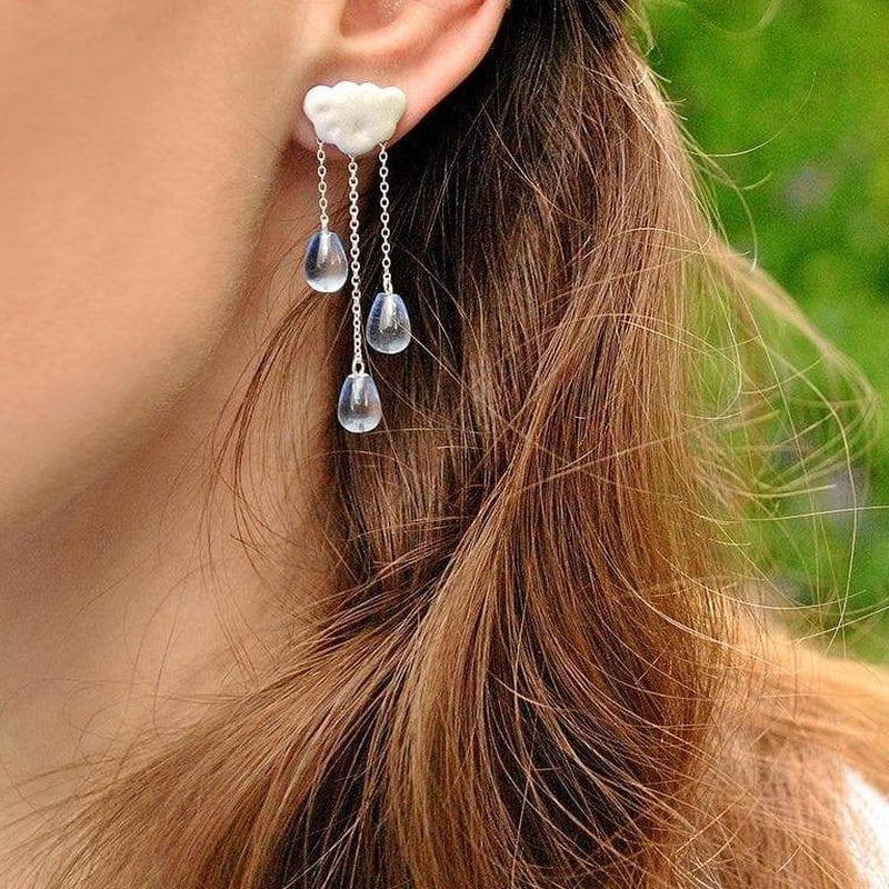 Intense Drizzle Sterling Silver Tassel Earrings