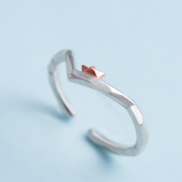 Find Me Where The Waves Are Sterling Silver Ring