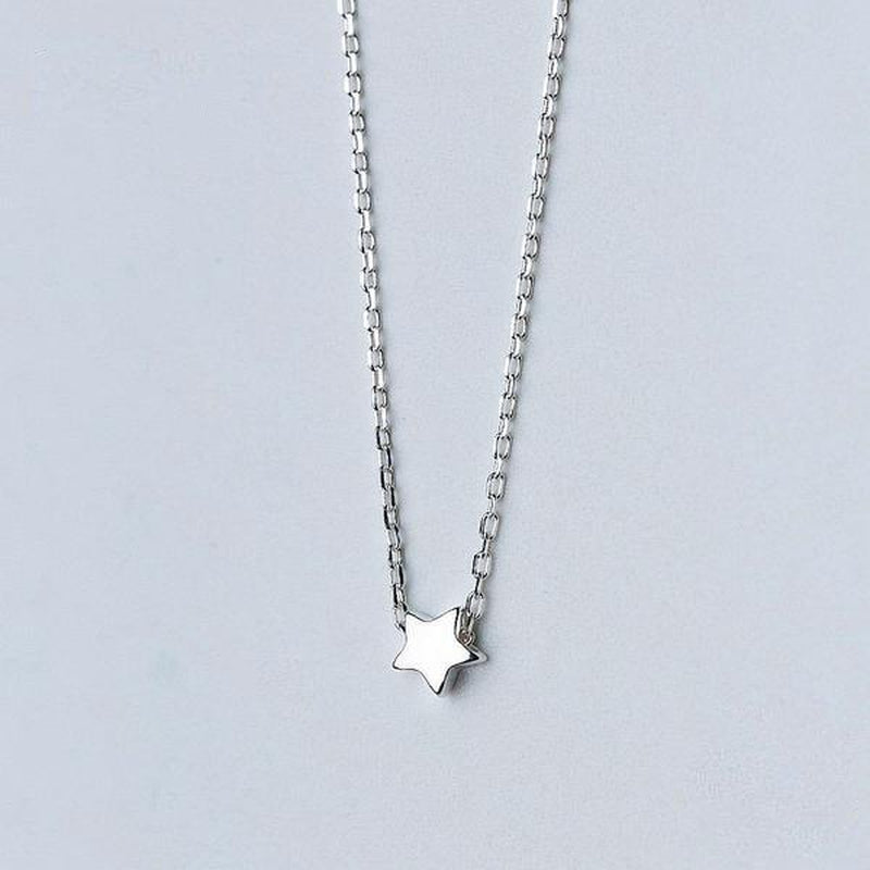 Minimal Star Sterling Silver Necklace