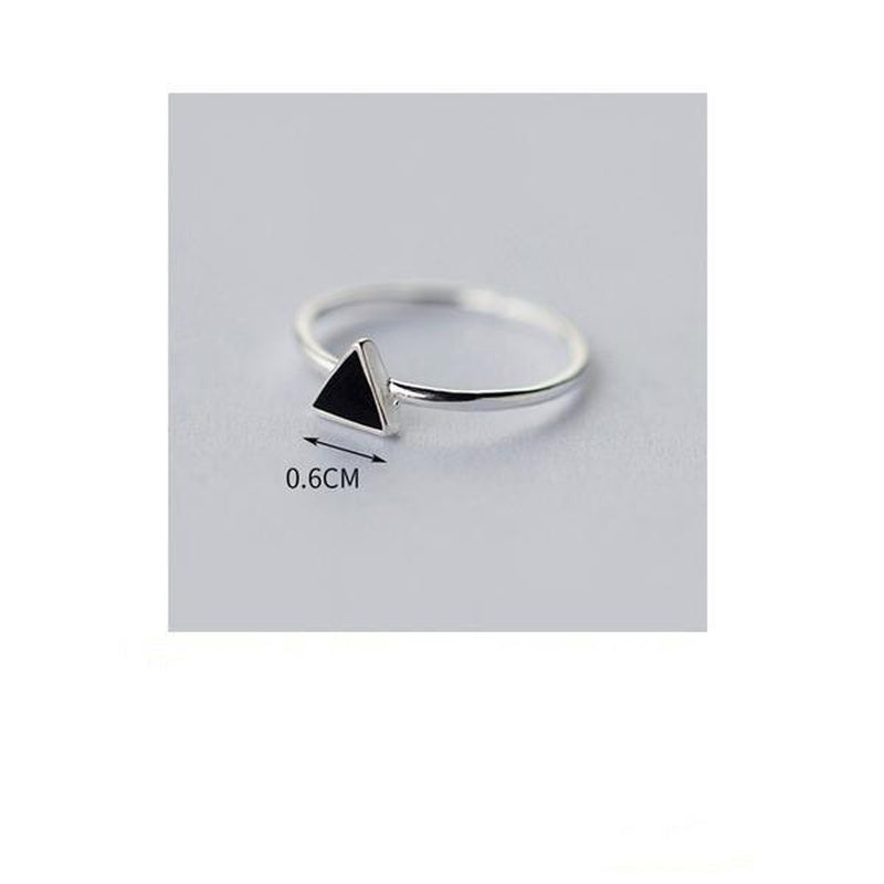 Minimal Triangle Sterling Silver Ring