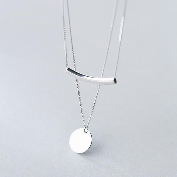Subtle Elegance Sterling Silver Layered Necklace