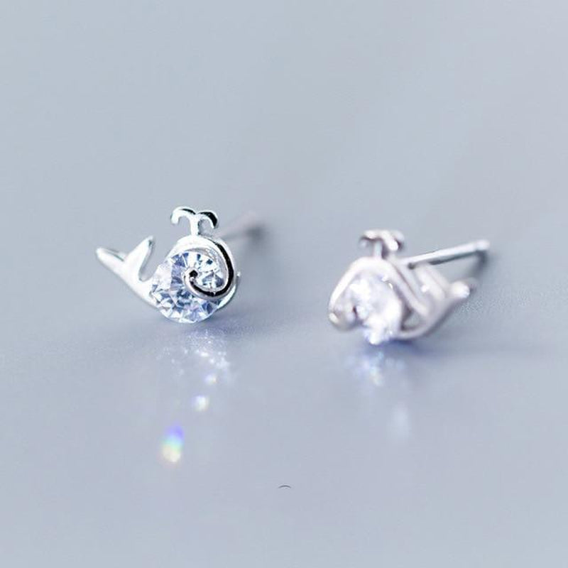 Minimal Dolphin Sterling Silver Studs