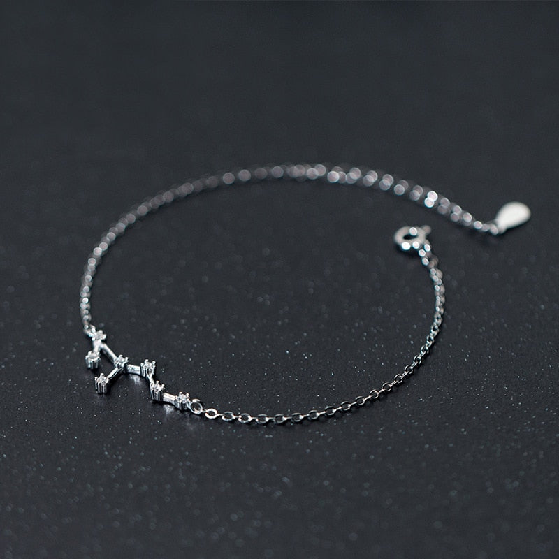 Your Zodiac Constellation Sterling Silver Bracelet