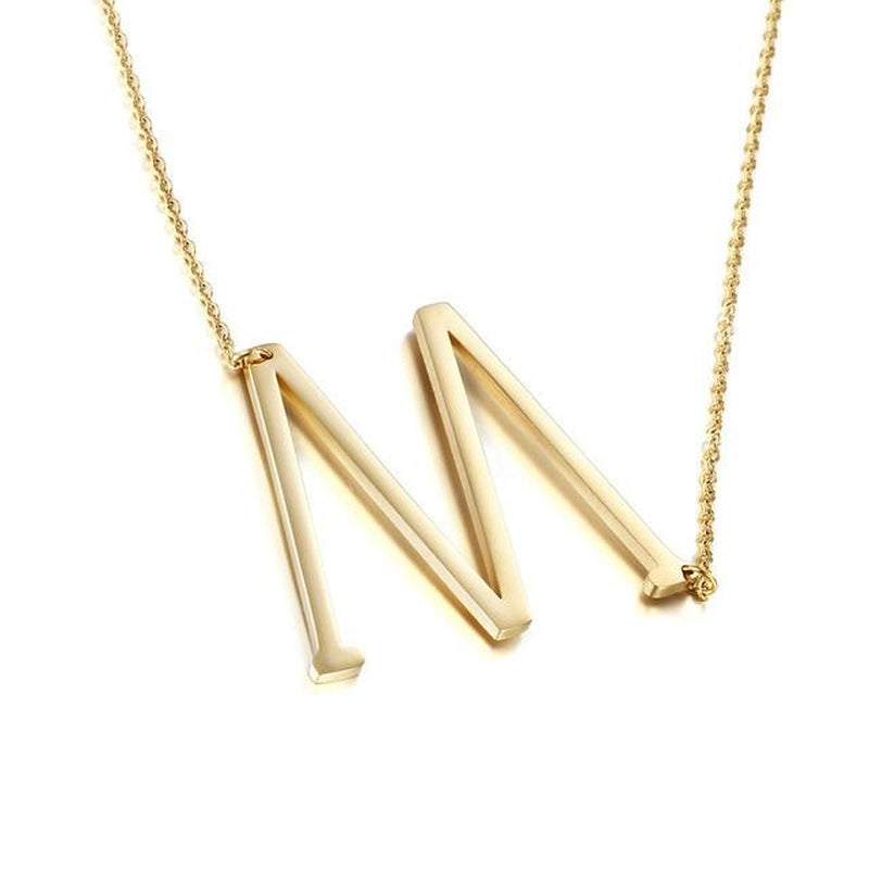 Eccentric Initial Fashion Necklace-Blinglane