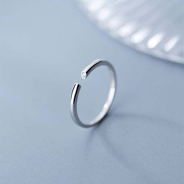 Sheen Elegance Sterling Silver Minimal Ring