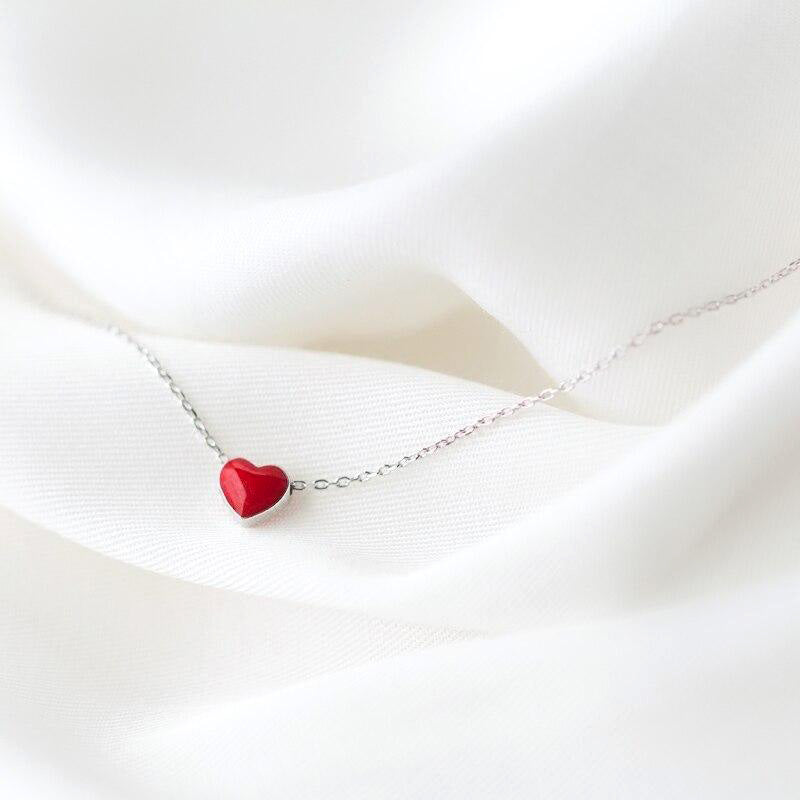 My Little Heart  Minimal Necklace