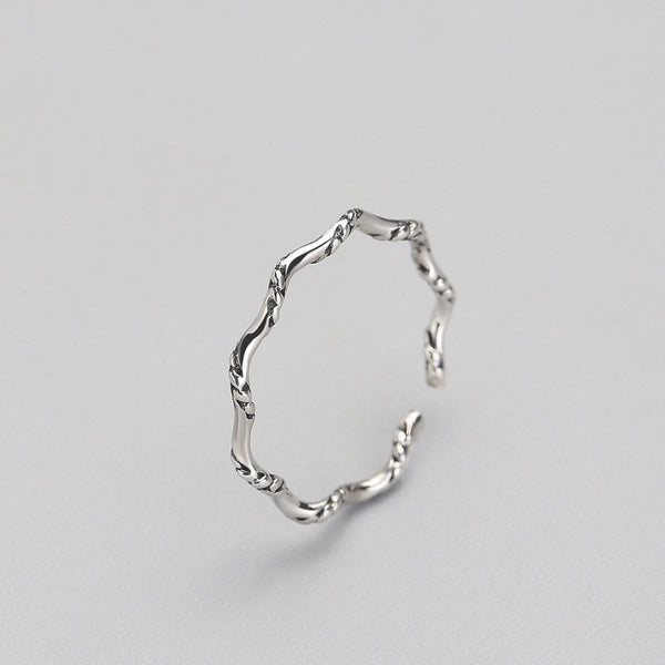 Gorgeous Curves Sterling Silver Minimal Ring-Silver Ring-Blinglane