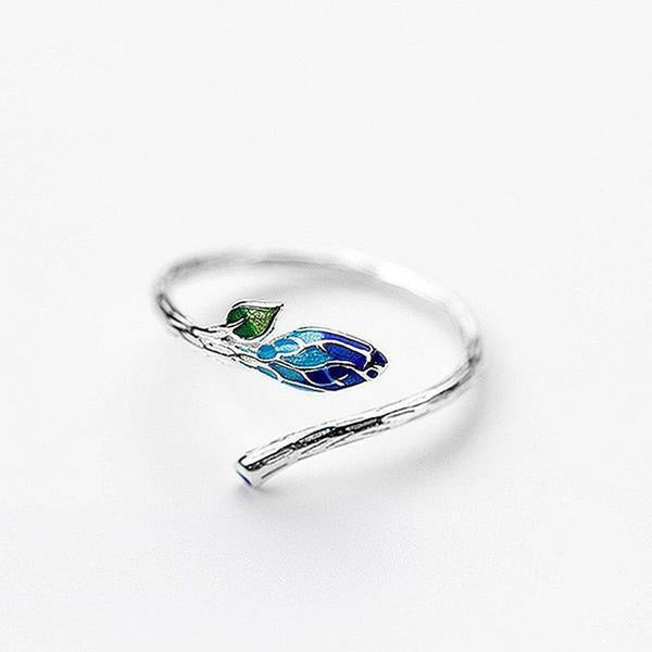 Young Bud Sterling Silver Elegant Ring