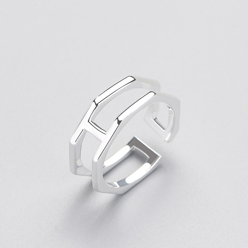 Modern Edges Sterling Silver Minimal Ring