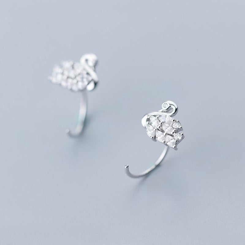 Sophisticated Swan Minimal Sterling Silver Studs